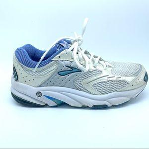 Brooks Ariel running shoe blue white silver size 7